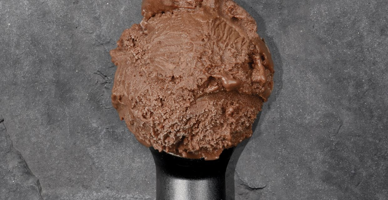 Vegan Chocolate & Orange Blossom Ice Cream