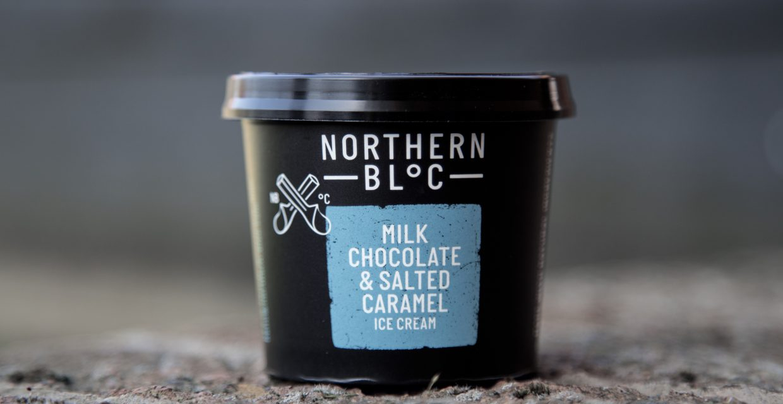 Milk chocolate & Salted Caramel Ice Cream