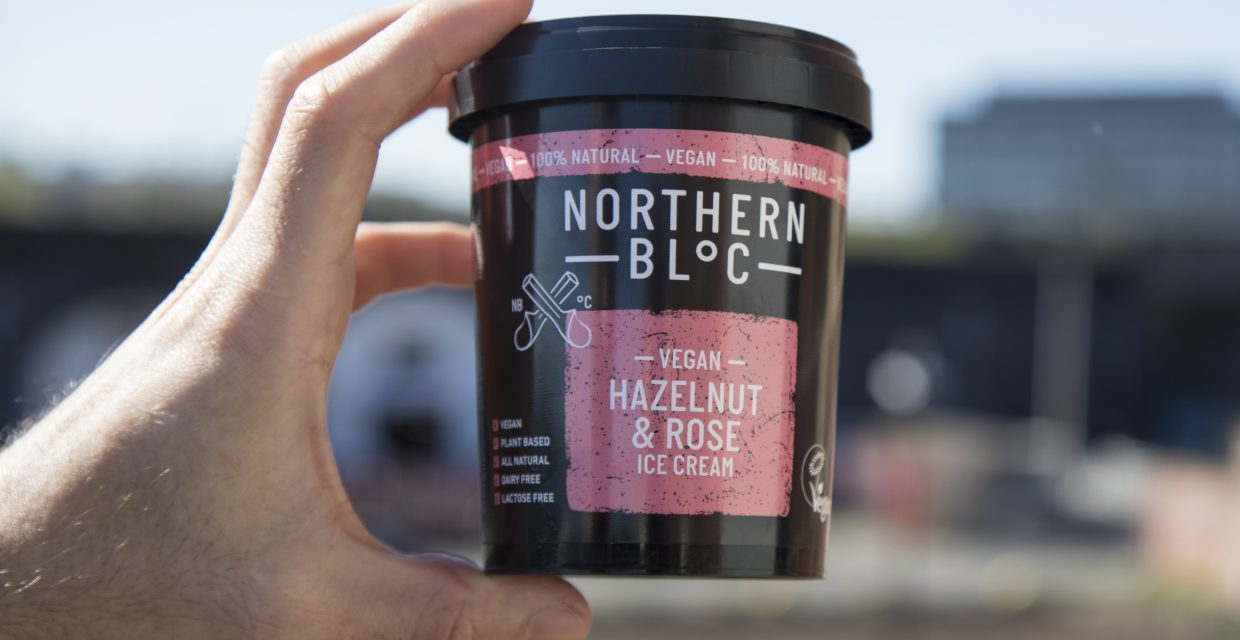 Vegan Hazelnut & Rose Ice Cream