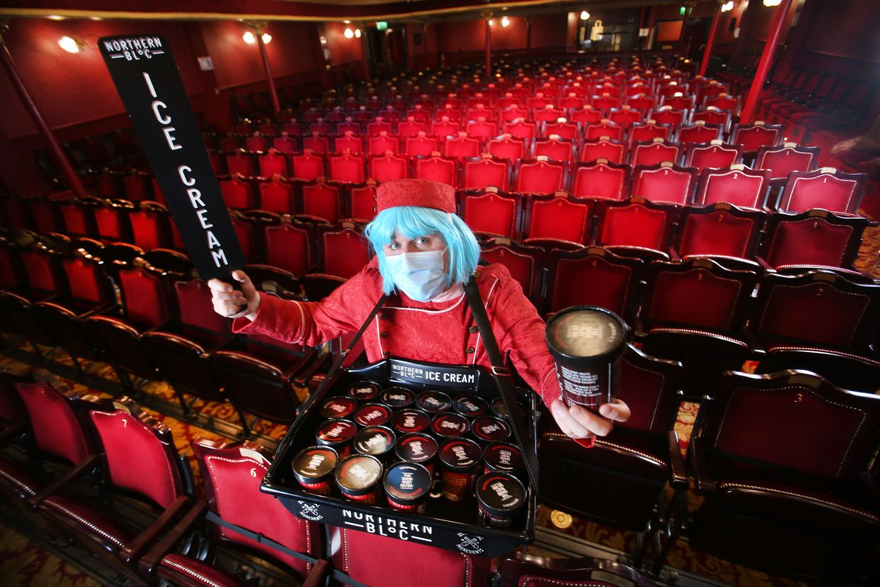 Picture: Lorne Campbell / Guzelian Northern Bloc ice cream photoshoot at the City Varieties Theatre in Leeds, West Yorkshire. PICTURE TAKEN ON MONDAY 2 NOVEMBER  2020